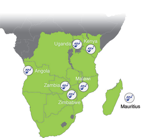 Distributer Africa Map